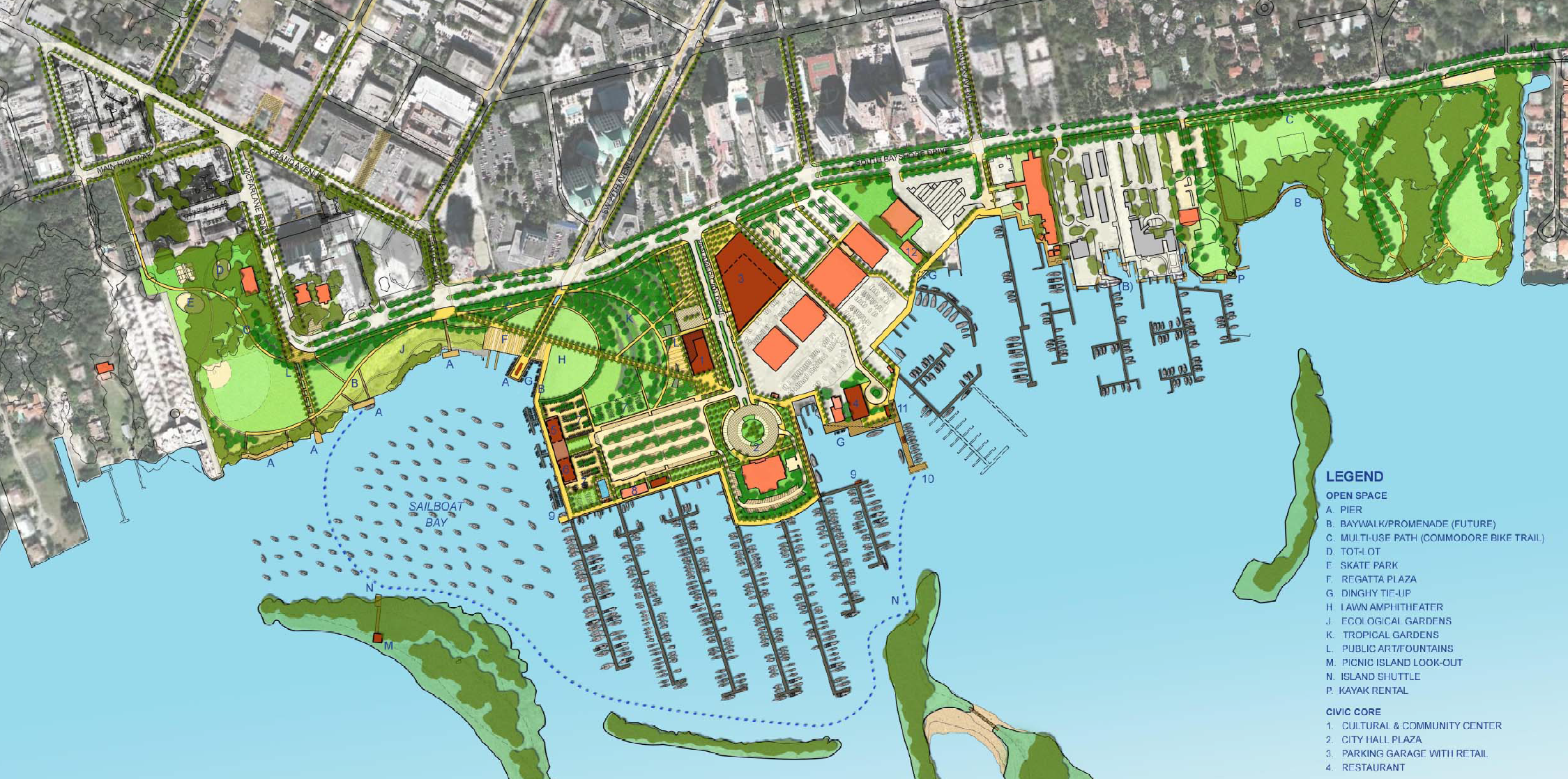 Approved Coconut Grove Waterfront Master Plan